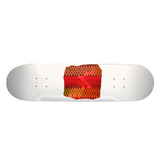 Red Yellow Abstract Stairs Cutout Picture Skateboard