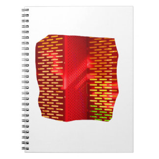 Red Yellow Abstract Stairs Cutout Picture Spiral Notebook