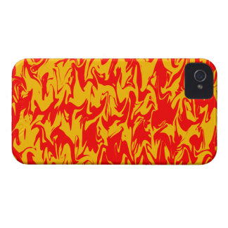 Red & Yellow Abstract Swirl iPhone 4 Case