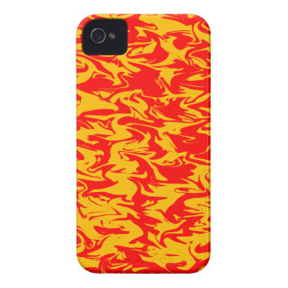 Red & Yellow Abstract Swirl iPhone 4 Case-Mate Cases