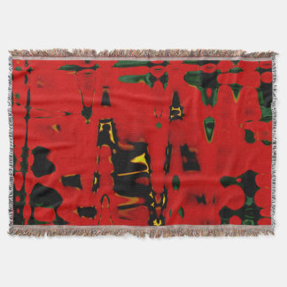 Red Yellow Abstract Throw Blanket