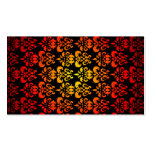 Red, yellow and black damask business card template