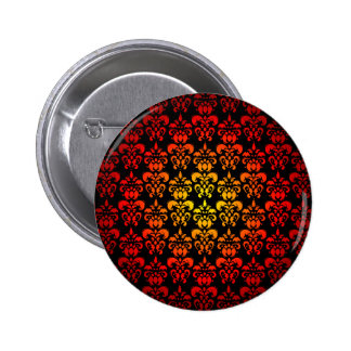 Red, yellow and black damask button