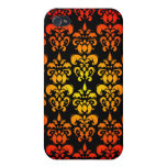 Red, yellow and black damask cases for iPhone 4