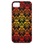 Red, yellow and black damask iPhone 5 covers