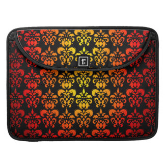 Red, yellow and black damask sleeve for MacBooks