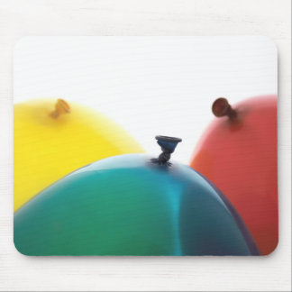 red, yellow and blue balloons mousepad