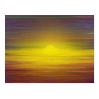 Red yellow and blue sun hues post card