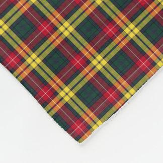 Red, Yellow and Green Buchanan Clan Tartan Fleece Blanket