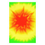 Red, Yellow and Green Tie Dye Custom Stationery