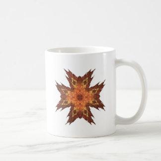 Red, Yellow, and Orange Fractal Art Flame Coffee Mug