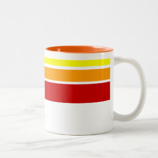 Red Yellow and Orange stripe pattern mug