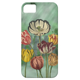 Red yellow and white tulips iPhone SE/5/5s case