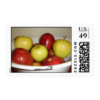 Red & Yellow Apples Stamp