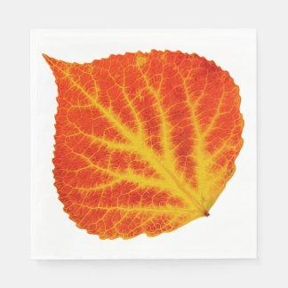 Red & Yellow Aspen Leaf #10 Paper Napkin