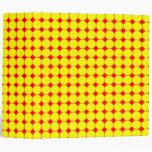 red & yellow binder