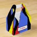 Red, Yellow, Black and Blue Abstract 8230 Favor Box