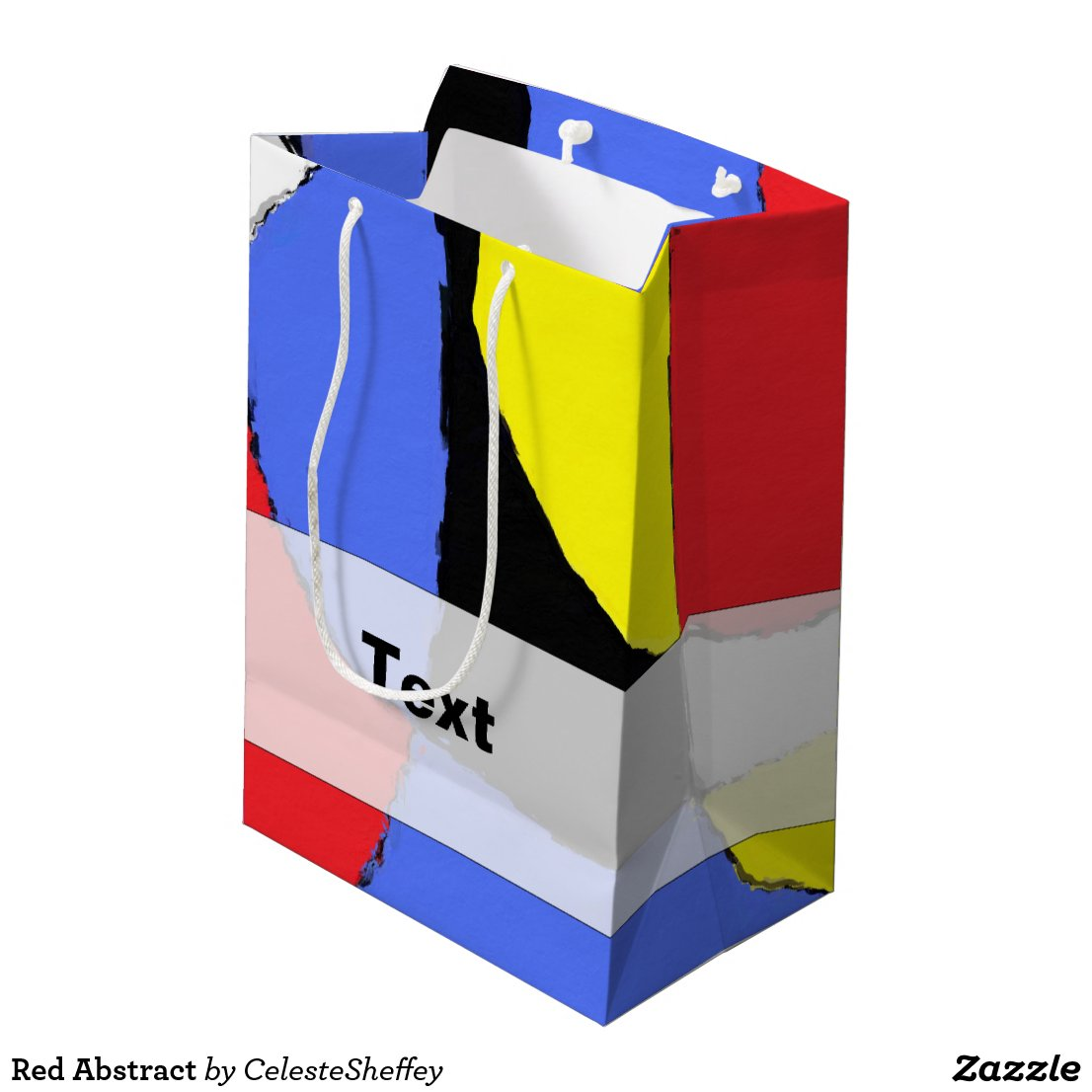 Red, Yellow, Black and Blue Abstract 8230 Medium Gift Bag