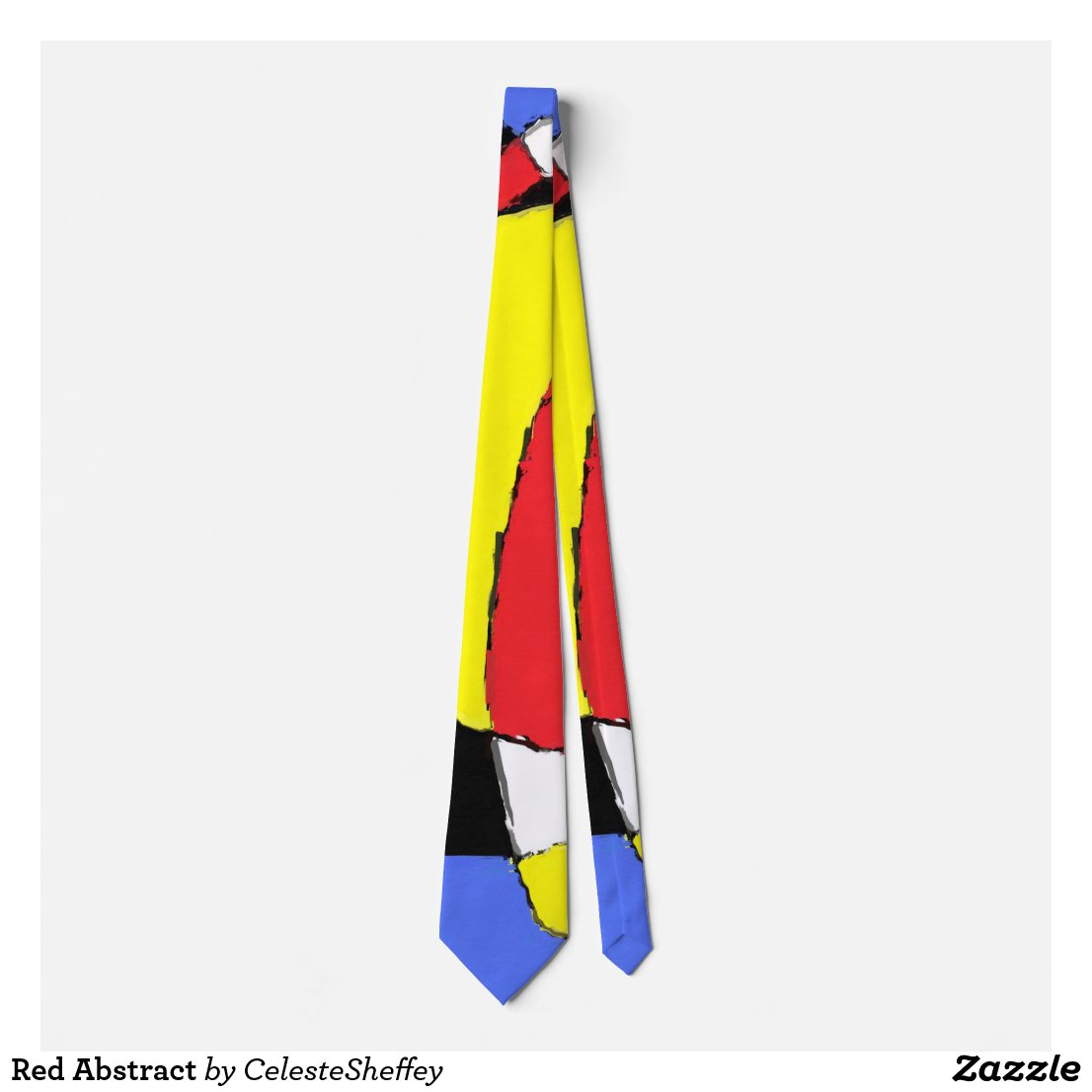 Red, Yellow, Black and Blue Abstract 8230 necktie