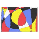 Red, Yellow, Black and Blue Abstract 8230 Tissue Paper