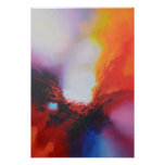 Red Yellow Blue Abstract Expressionism Painting Poster