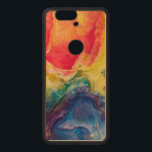 """Red Yellow Blue Abstract Painting Wood Nexus 6P Case<br><div class=""""desc"""">Red,  yellow and blue abstract painting. Perfect gifts for art lovers.</div>"""