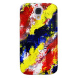 Red Yellow Blue bright colour abstract smear Galaxy S4 Case