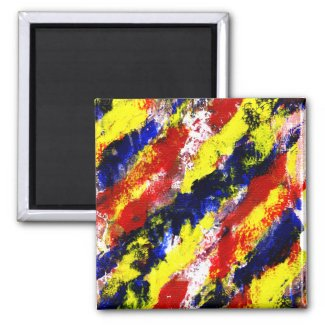 Red Yellow Blue bright colour abstract smear magnet