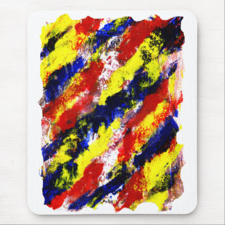 Red Yellow Blue bright colour abstract smear Mouse Pads
