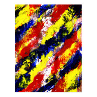 Red Yellow Blue bright colour abstract smear Postcards
