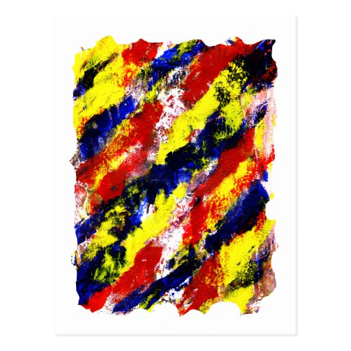 Red Yellow Blue bright colour abstract smear Postcard