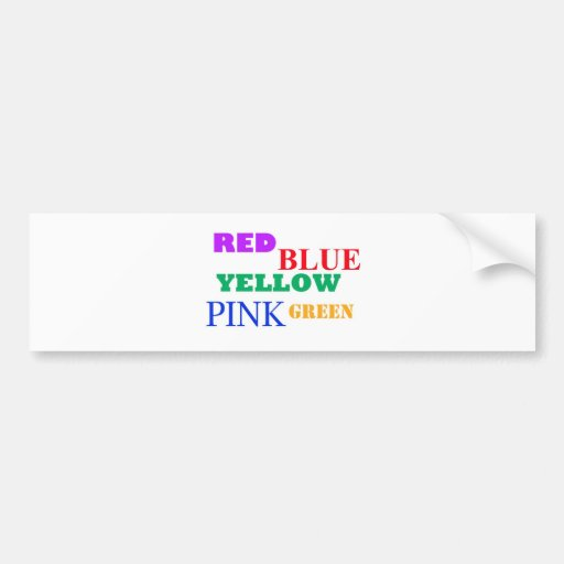 red yellow blue? bumper stickers
