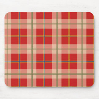 Red Yellow Blue Green Plaid Mousepad