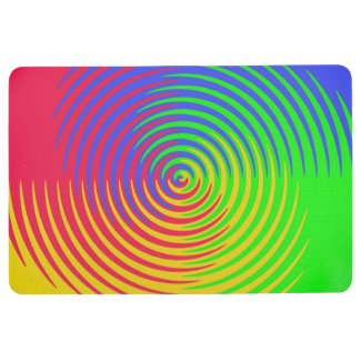 Red Yellow Blue Green Rainbow Abstract Floor Mat
