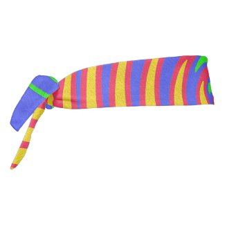 Red Yellow Blue Green Rainbow Tie Headband