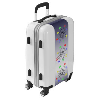 Red Yellow Blue Green Safety Pin Rainbow Luggage