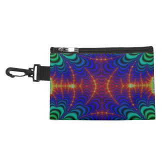 Red Yellow Blue Green Wormhole Fractal Accessory Bag