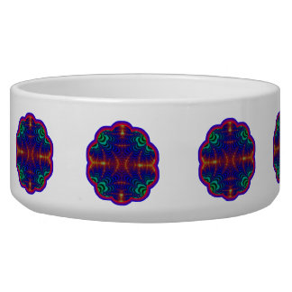 Red Yellow Blue Green Wormhole Fractal Bowl