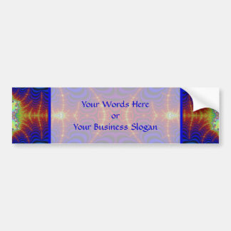 Red Yellow Blue Green Wormhole Fractal Bumper Sticker
