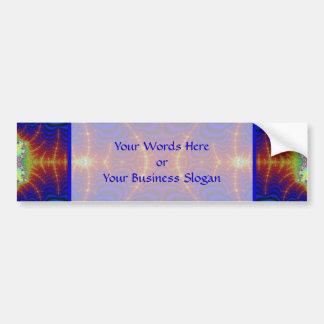 Red Yellow Blue Green Wormhole Fractal Bumper Sticker