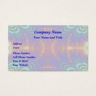 Red Yellow Blue Green Wormhole Fractal Business Card