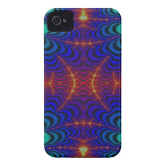 Red Yellow Blue Green Wormhole Fractal iPhone 4 Case-Mate Cases