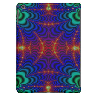 Red Yellow Blue Green Wormhole Fractal Case For iPad Air