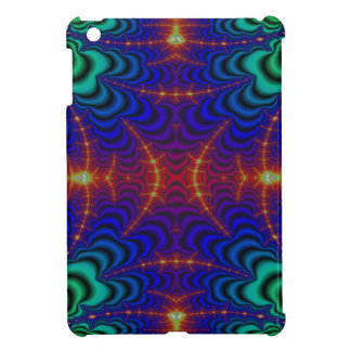 Red Yellow Blue Green Wormhole Fractal Case For The iPad Mini
