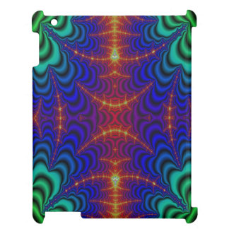 Red Yellow Blue Green Wormhole Fractal Cover For The iPad 2 3 4
