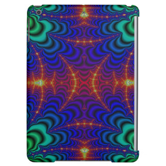 Red Yellow Blue Green Wormhole Fractal iPad Air Case