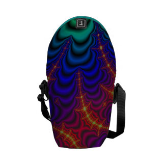 Red Yellow Blue Green Wormhole Fractal Messenger Bag