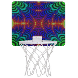 Red Yellow Blue Green Wormhole Fractal Mini Basketball Hoop