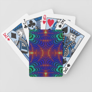 Red Yellow Blue Green Wormhole Fractal Card Decks
