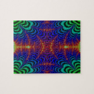 Red Yellow Blue Green Wormhole Fractal Puzzle